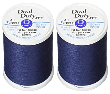 4-PACK Dual Duty All-Purpose Thread 400yds Black 230a-2