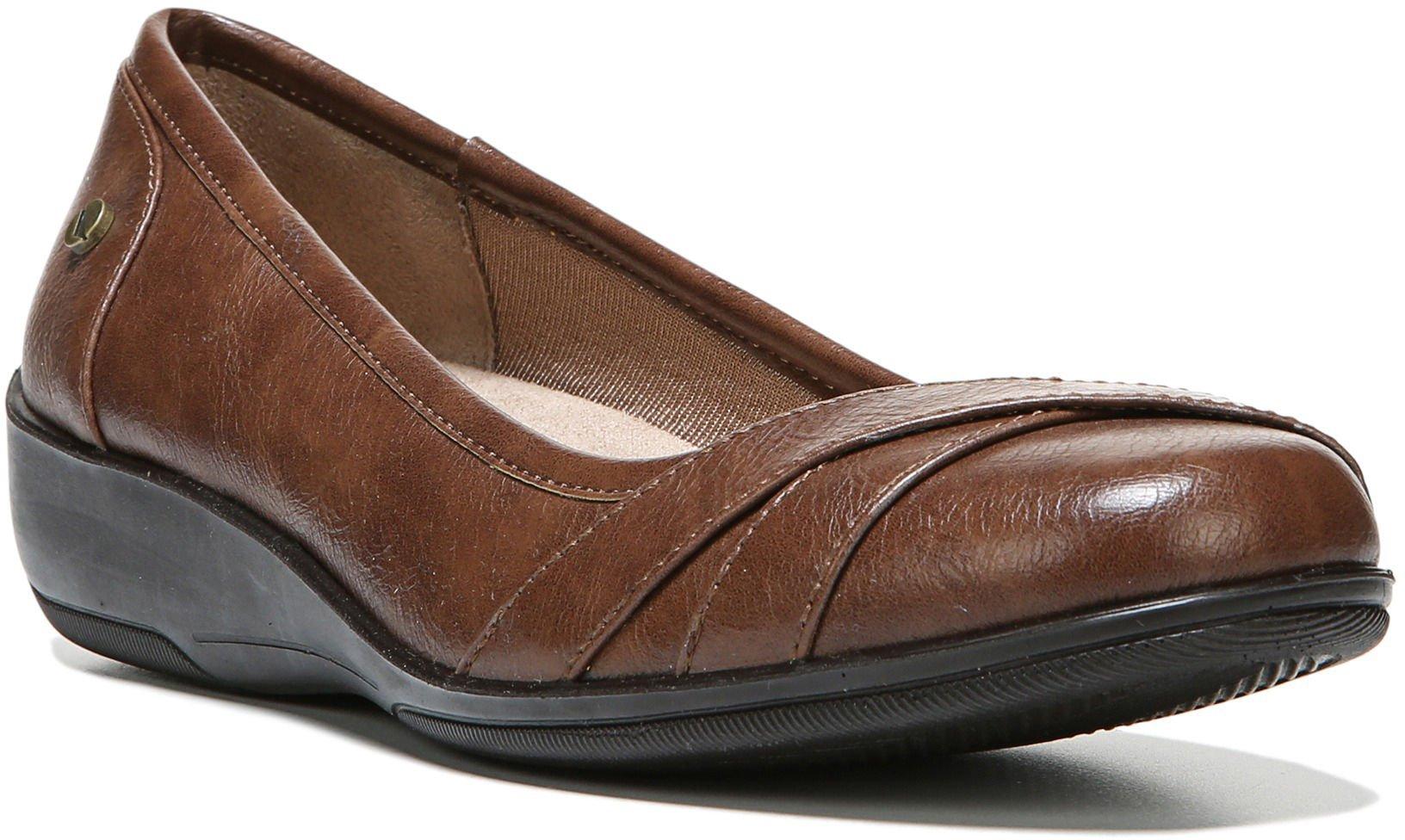 LifeStride Womens I-Loyal Wedge Shoes 9 Dark tan