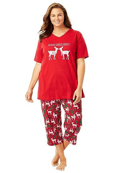05d8a5a3255 Women s Plus Size 2-Piece Capri Pj Set at Amazon Women s Clothing store