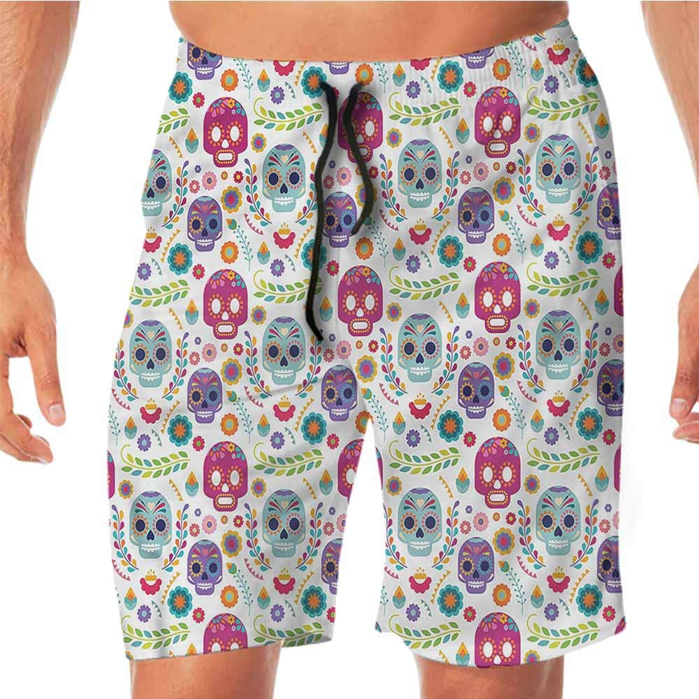 Quick-Dry Beach Running Shorts Mexican,Native Aztec Borders Juniors Shorts