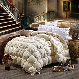 LUOTIANLANG 2-4kg deluxe spessa caldo piumino caldo inverno è bianco di piuma d'oca piumino di varie dimensioni, nucleo di alta qualità ecologica tessuti di alta qualità,giallo,240cm 220 *