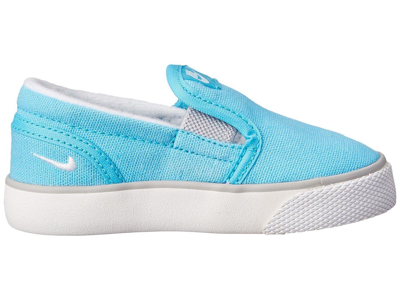 Nike Toddler Toki Slip-On Canvas Sneaker ~Pink Pow//White-Vivid Pink
