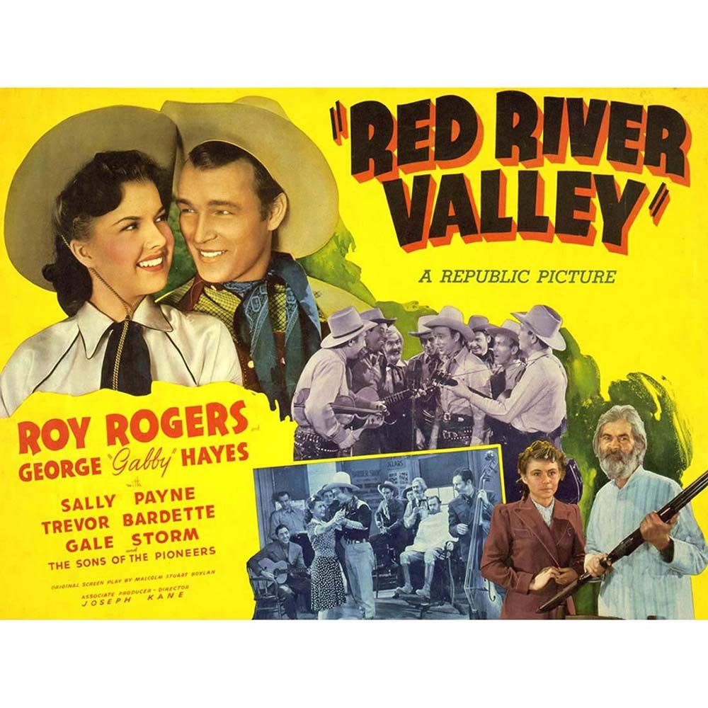 Wee Blue Coo Advertising Movie Film Red River Valley Roy Rogers Unframed Wall Art Print Poster Home Decor Premium