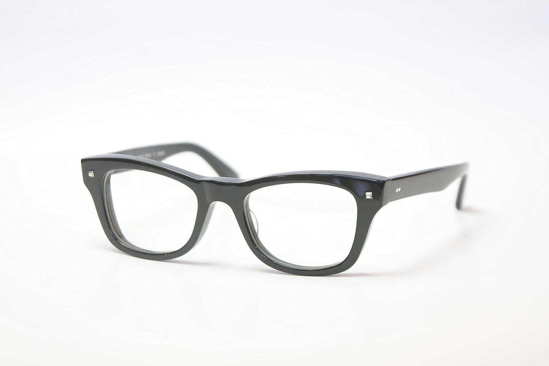 EFFECTOR 眼鏡 メガネ FOH.-BK メンズ レディース ファッション おしゃれ 黒縁 めがね工房ハトヤオリジナルメガネ拭き付【正規品】ブラック B077JFVQ65