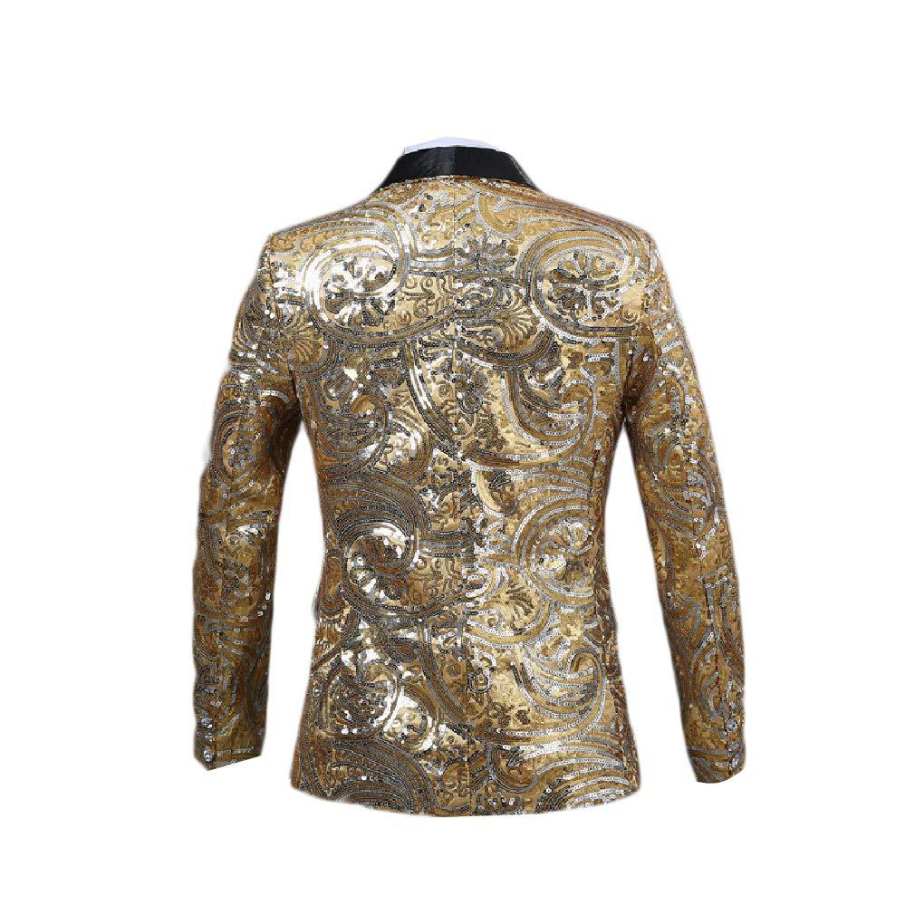 Abetteric Mens Sequin Party Fit Premium Single Button Blazer Sport Coat Jacket