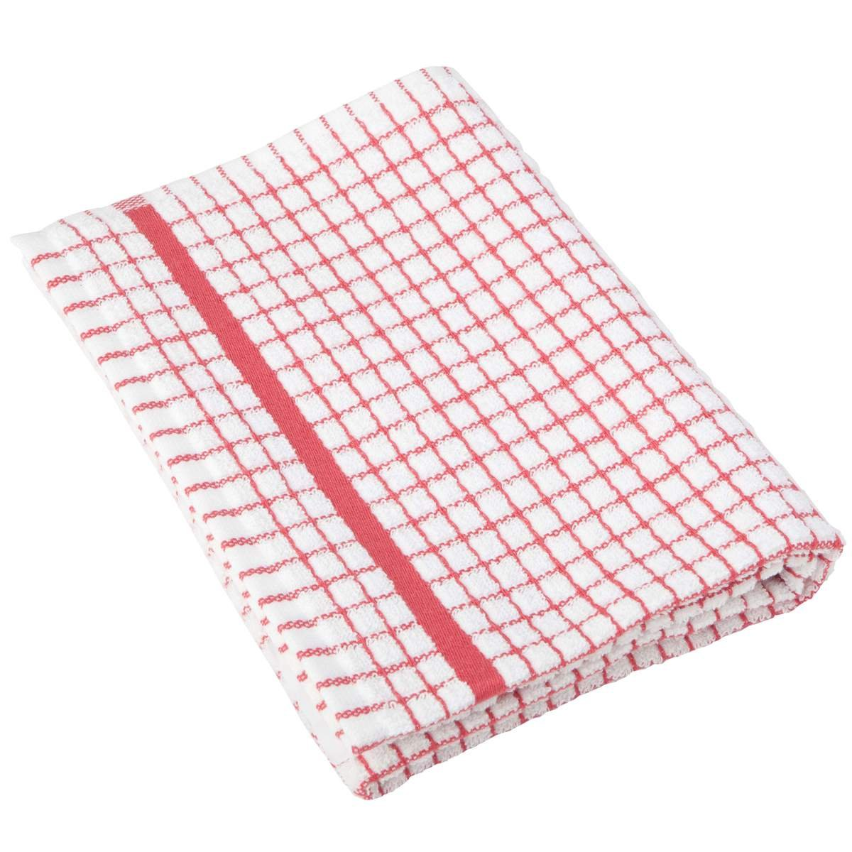 Lamont Poli-Dri Tea Towel / Dish Cloth, Red by eCoast Bargains