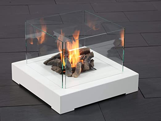 muenkel Diseño Base Fire biokamin [Mesa Chimenea/Chimenea de pie ...