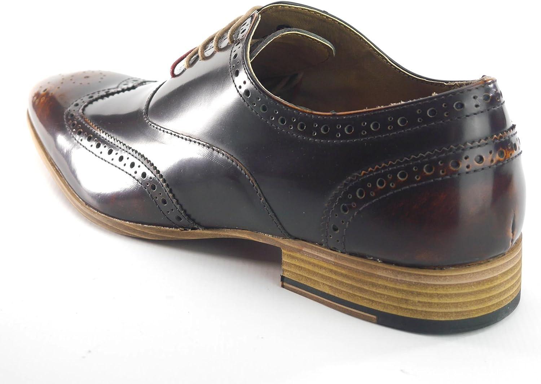Frank James Norbury Hi Shine Mens Lace Up Brogue Lace Up Shoes Black