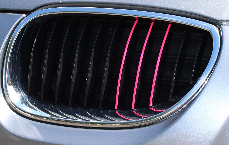 6 40 Teiliges Kfz Aufkleber Set Für Front Und Kühlergrill Finest Folia Folie Zierstreifen Streifen K005 Neon Pink Auto
