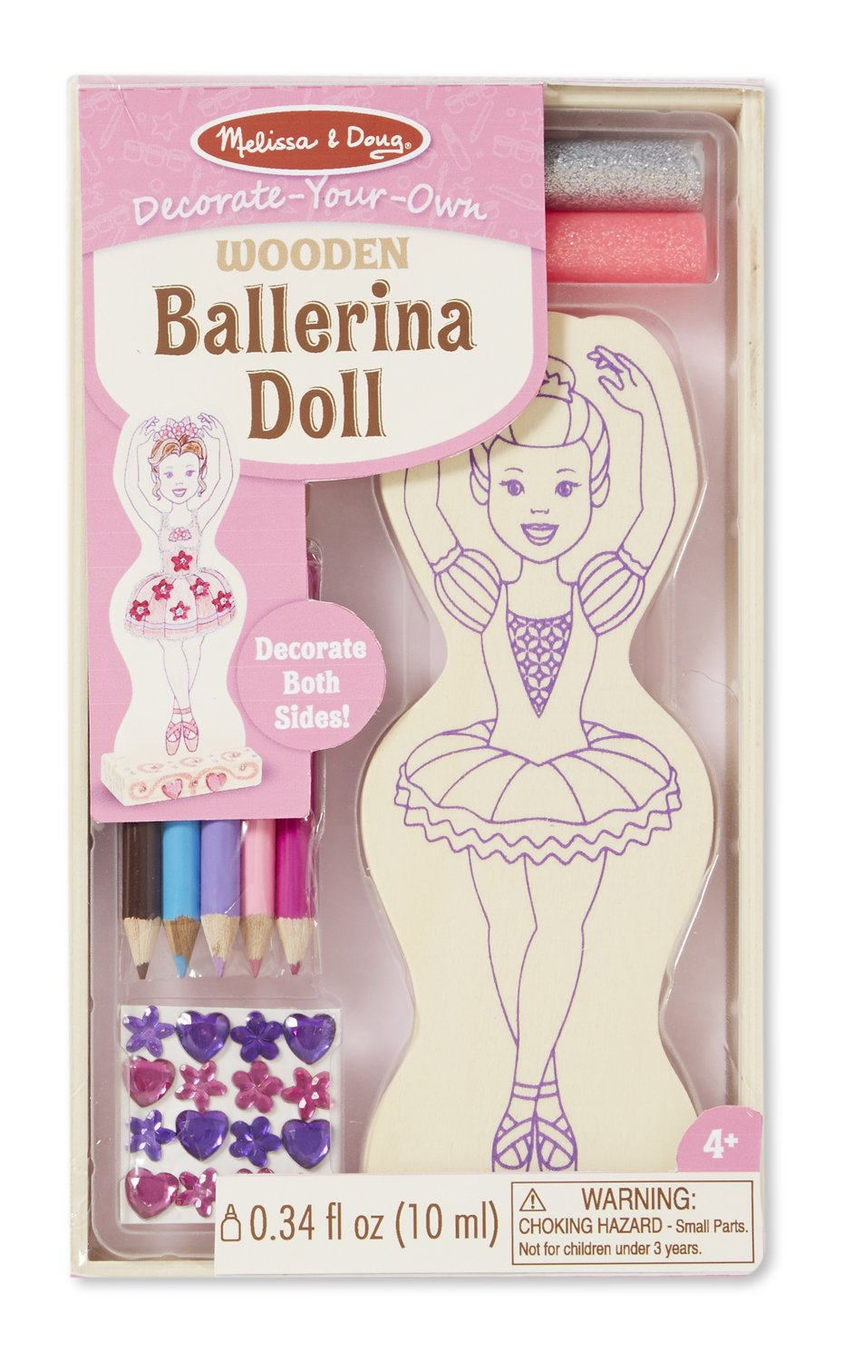 Amazon.com: Melissa & Doug Decorate-Your-Own Wooden Doll Craft Kit ...