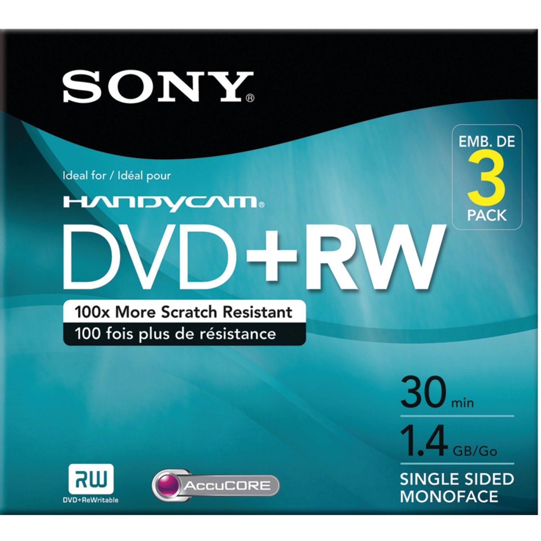 Verbatim dvd rw 4 7gb 4x with branded surface 30pk spindle 4 7gb - Sony 3dpw30r2hc 3 Pack 8cm Dvd Rw With Hangtab