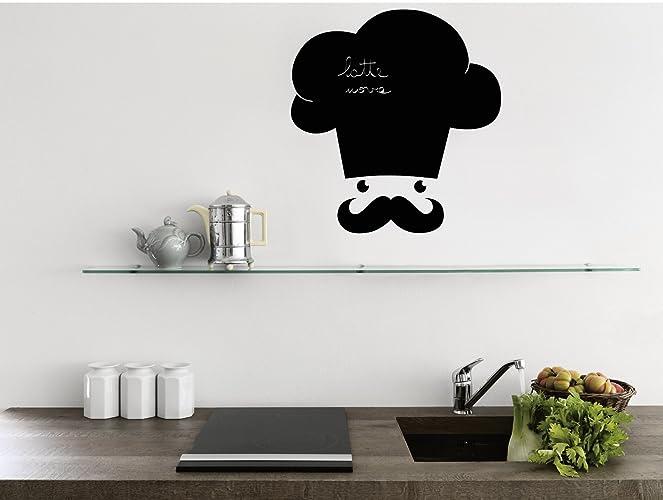 Lavagna adesiva Stickers murali lavagna per cucina Il cuoco ...
