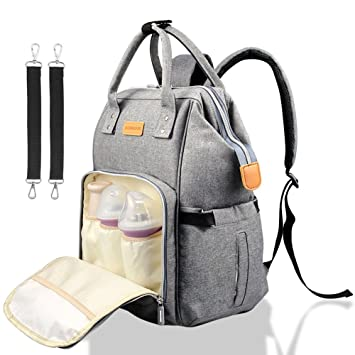838ea82f9be0 Diaper Bag Backpack,Multi-Functional Nappy Bags Waterproof Travel Backpack  for Mom and...