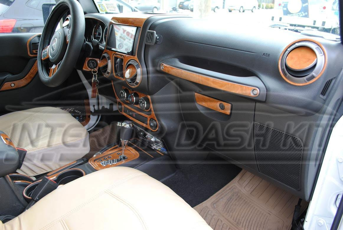 Amazon.com: JEEP WRANGLER UNLIMITED SAHARA INTERIOR BURL WOOD DASH TRIM KIT  SET 2014 2015 2016 2017: Automotive