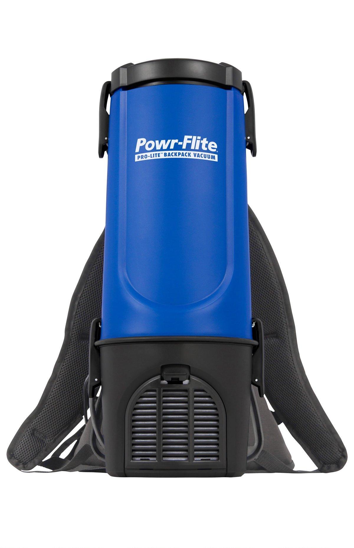 Powr-Flite BP4S Pro-Lite Backpack Vacuum, 22.5'' Height, 9.5'' Length
