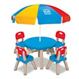 Grow'n Up Patio Set with 4 Chairs and Umbrella