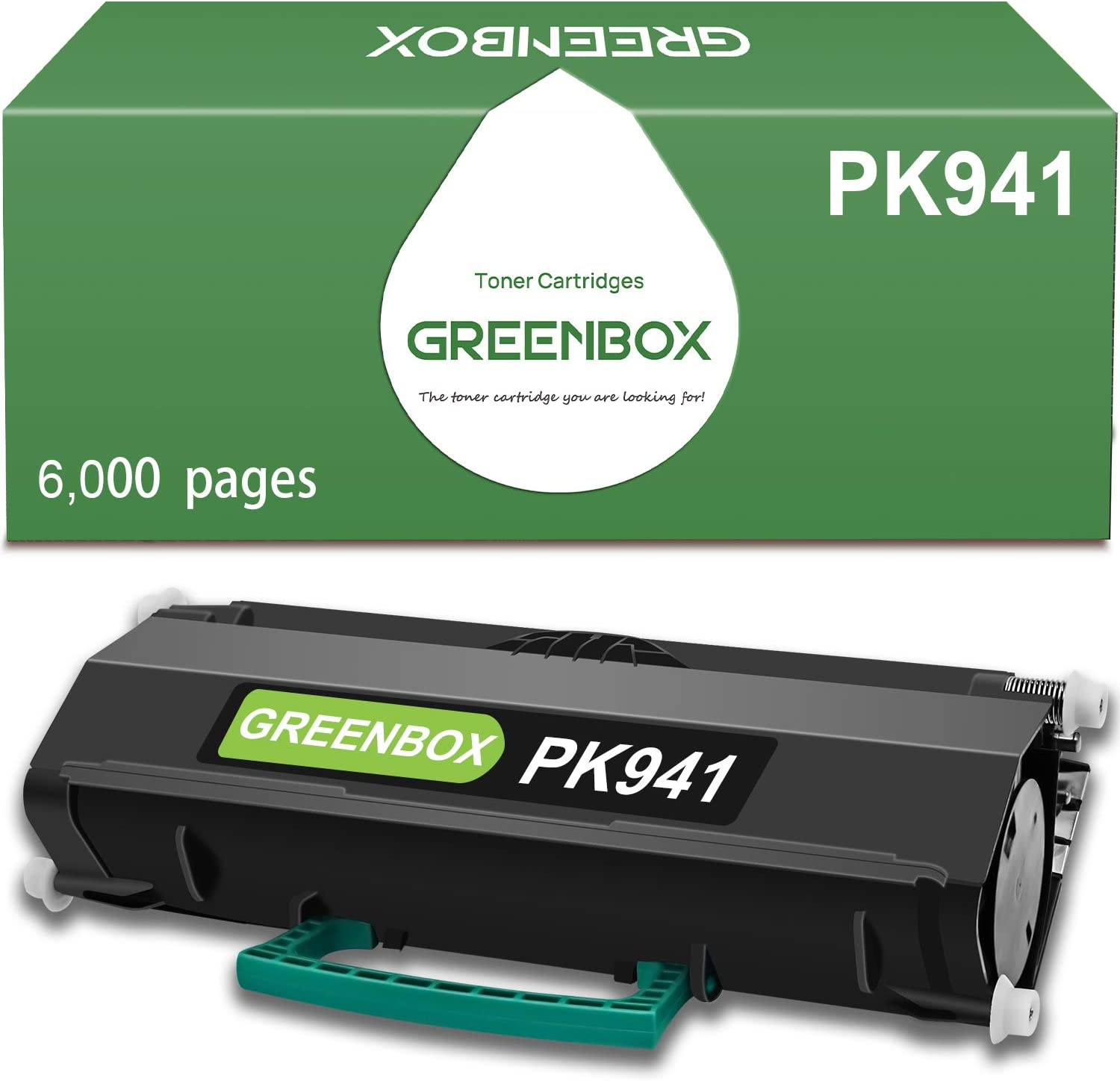 GREENBOX Compatible Toner Cartridge Replacement for Dell PK941 for Dell 2350DN 2330DN 2330D 2330DTN 2330 2350D 2350 Printer (6,000 Pages High Yield, Black, 1-Pack)