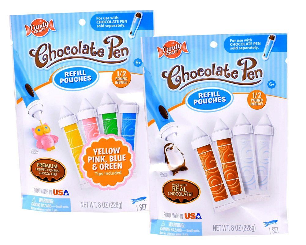 Amazon.com: Candy Craft Chocolate Pen Refill Double Pack (8oz ...