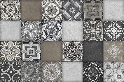 Maglia montato mosaico di vetro e piastrelle di pietra per la