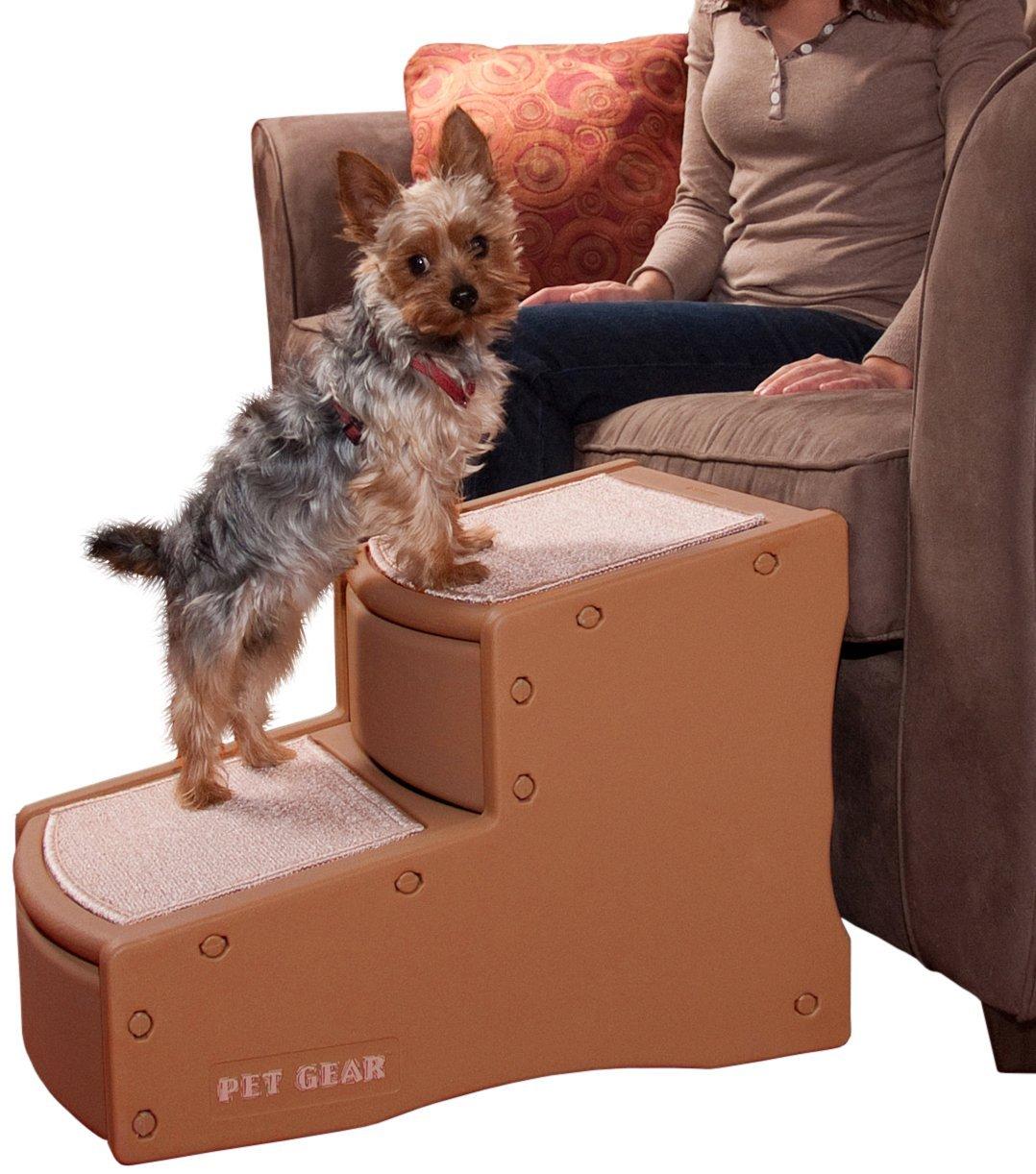 Pet Gear Easy Step II Steighilfe/Treppe für Hunde, klein, Kakao/Beige