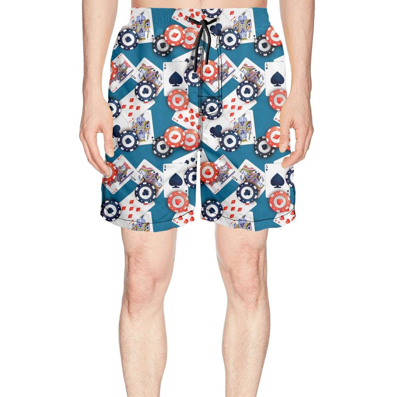 truye rrelk Funny Bulk Poker Chips Blue Fashion Men's Swimming Trunks Short