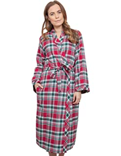 79901184d2 Cyberjammies 3856 Women s Holly Red Check Dressing Gown Loungewear Bath  Robe Robe