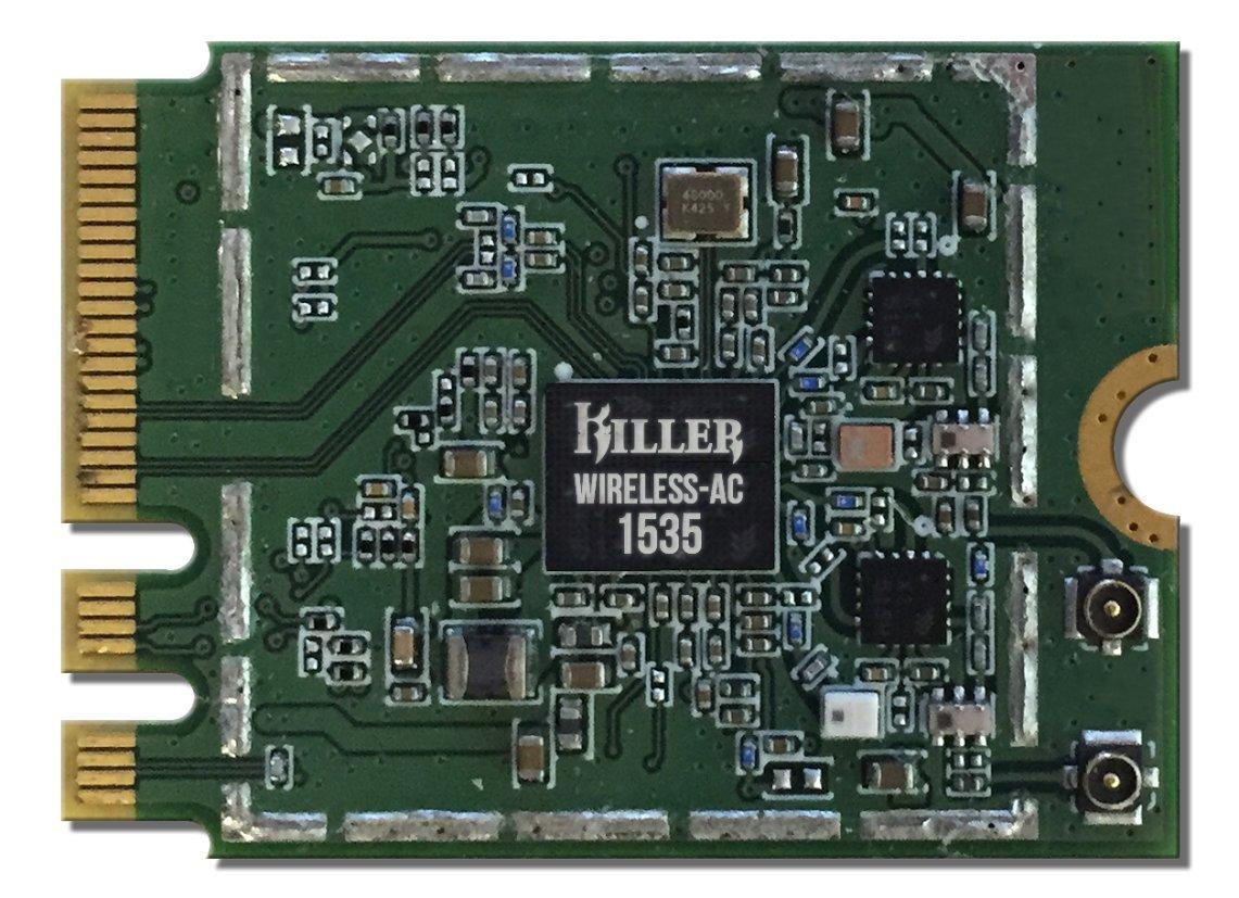 HIDevolution Killer Wireless AC 1535 N1535 ac/a/g/n 2x2 M 2 NGFF Wireless  Card w/Bluetooth 4 1 for Gaming, Entertainment