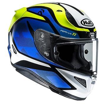 Hjc Rpha 11 >> Hjc Rpha 11 Full Face Motorcycle Crash Helmet Lid Deroka Mc2 Blue