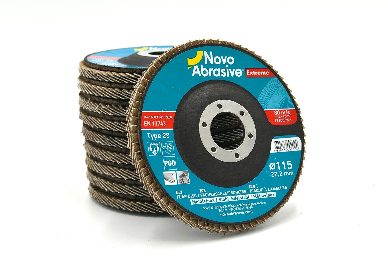 Disco lamellare abrasivo 115 grana 100 metallo e INOX smerigliatrici flex mole