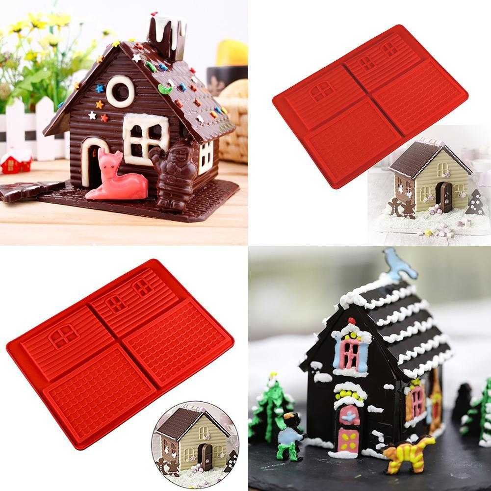 Taloyer Christmas Mini Gingerbread House Mold 3D Cake Cupcake Cookies Cutter Mould DIY Baking Decorating Tools (Random)) by Taloyer (Image #3)