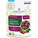 Navitas Organics Superfood Power Snacks, Cacao Goji, 8 oz. Bag, 11 Servings — Organic, Non-GMO, Gluten-Free
