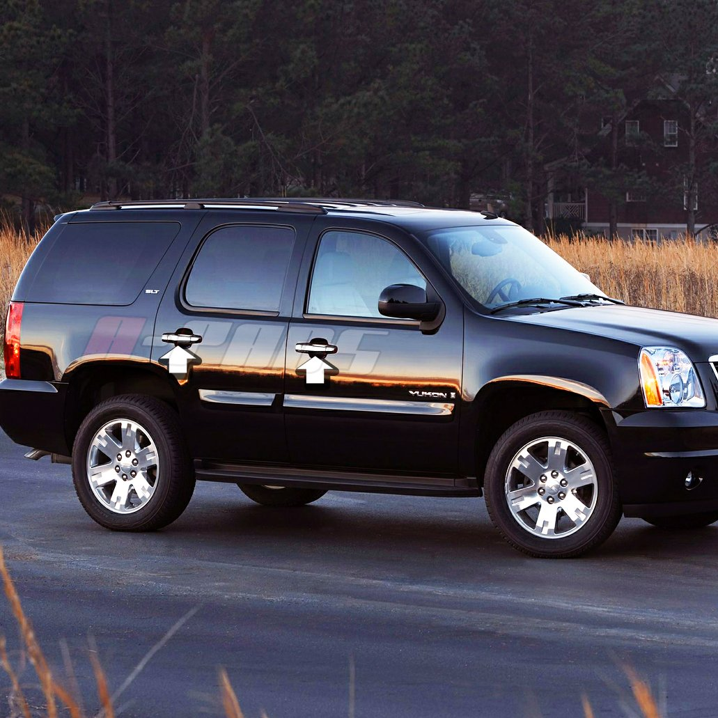 A-PADS 4 Chrome Door Handle Covers For GMC SIERRA 2007-2013 /& YUKON//XL 07-2014 WITH Passenger Keyhole