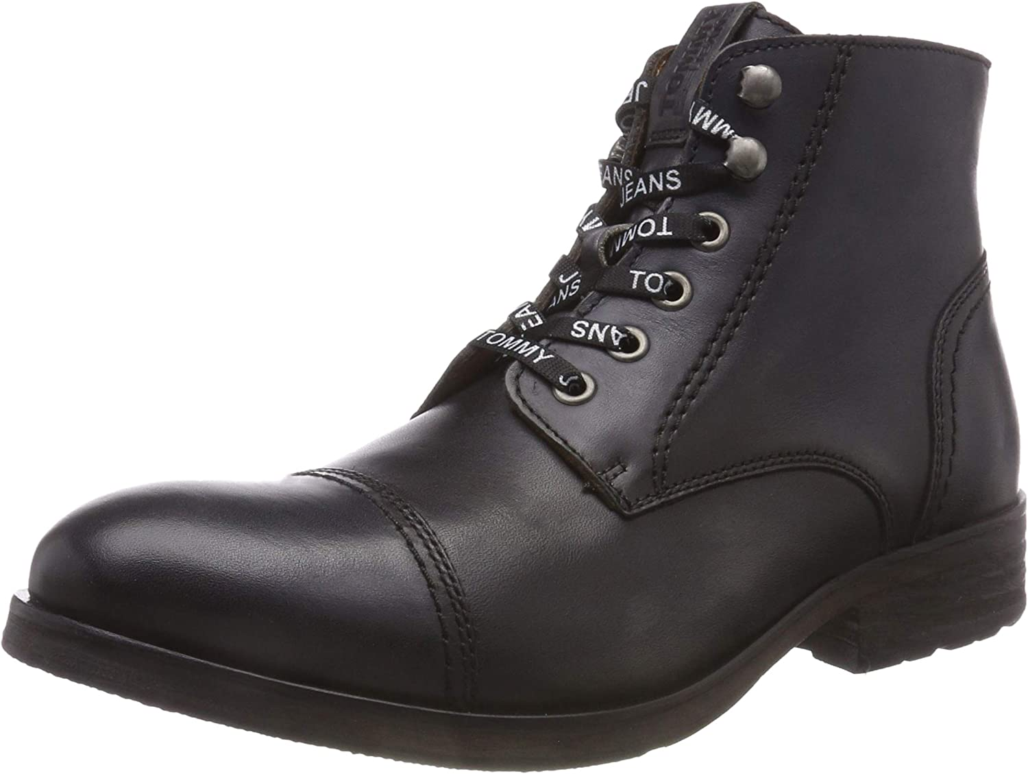 TALLA 43 EU. Tommy Jeans Dressy Leather Lace Up Boot, Botas Militar para Hombre