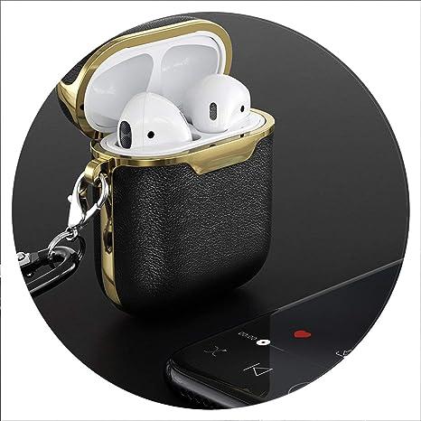 Funda de Piel para Auriculares Airpods inalámbricos para AirPods Bluetooth EarPods Caja de Auriculares Funda Protectora de la Piel: Amazon.es: Electrónica