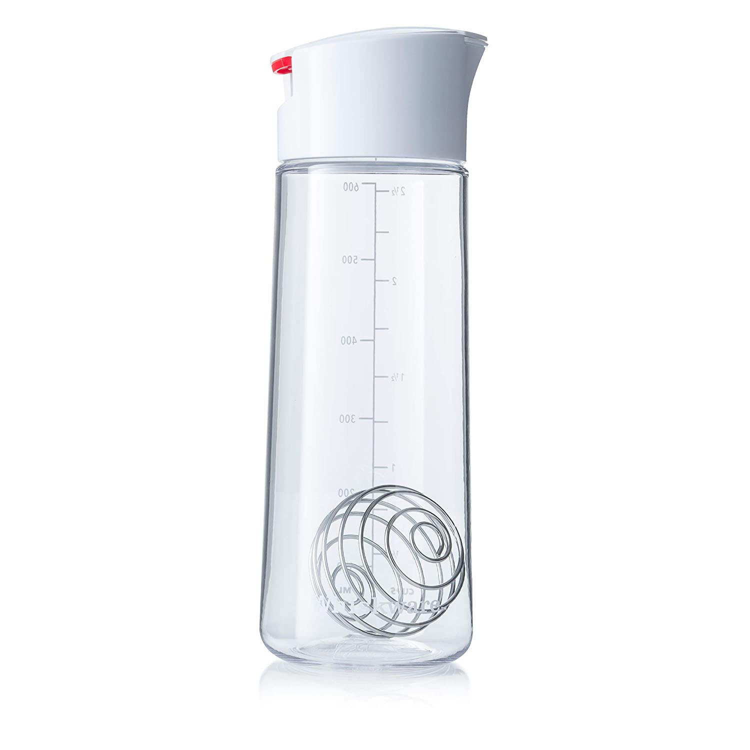 Whiskware Salad Dressing Shaker with BlenderBall Wire Whisk, Glass