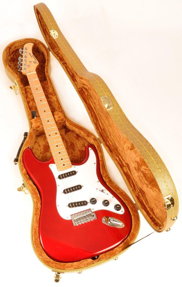 Douglas EGC-450 ST Tweed Gold Guitar Case for Fender Stratocaster Telecaster and Similar Models EGC-450 ST Tweed Gold Guitar Case Strat