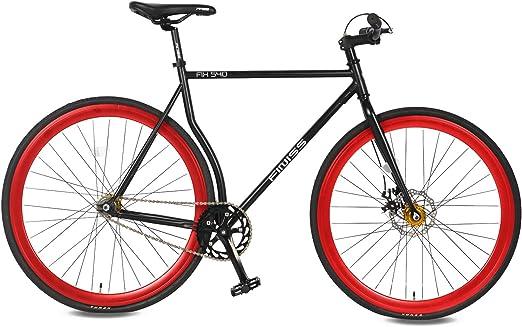Merax Classic Fixed Gear bicicleta sola velocidad bicicleta de carretera con disco de freno: Amazon.es: Deportes y aire libre