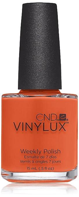 Creative Nail Design Vinylux Nail Lacquer Electric Orange 05