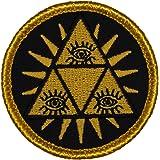 "Illuminati Patrol Patch - 2"" Diameter Round Embroidered Patch (Sew-on)"