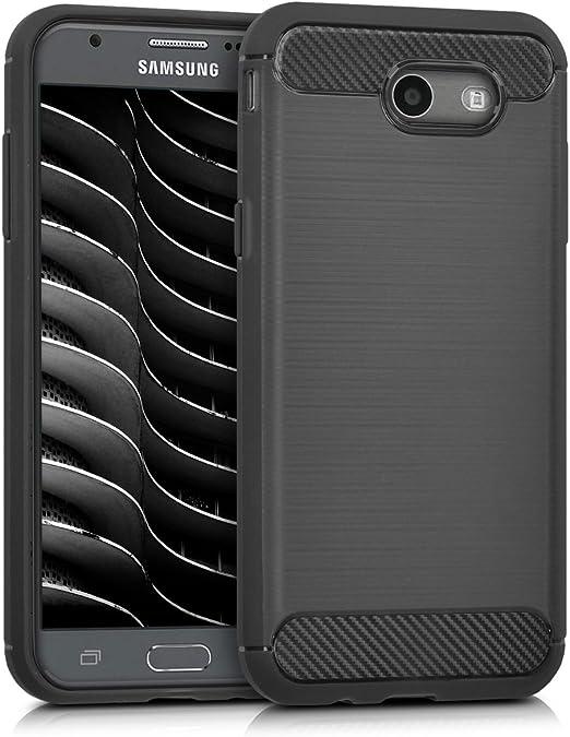 Kwmobile Coque pour Samsung Galaxy J3 2017/J3 Prime/J3 Emerge Souple TPU Silicone Housse de Protection Cover Souple Flexible Case Cover - Noir
