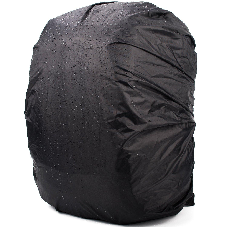 WANDF Regenschutzkappe für Schultasche WasserBesteändig Passend für Taschen, die innerhalbs 20 Inches/Zoll, schwarz