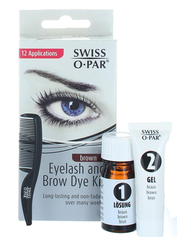 Amazon.com : Swiss O Par Eyelash & Brow Dye Tint Color Kit BLACK ...