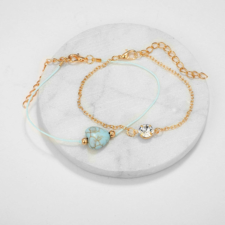 KnSam Anklets Women Ankle Bracelet Charm Gold Alloy U Shape Ankle Bracelet Ocean