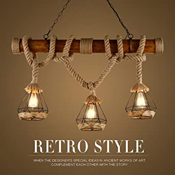 Malovecf Rustic Hemp Rope Birdcage Pendant Lights Wood Downlights Ceiling Lights L& Shades & Malovecf Rustic Hemp Rope Birdcage Pendant Lights Wood Downlights ... azcodes.com