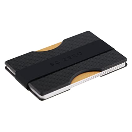 Billetera Minimalista Delgada Hecha de Fibra de Carbono para Guardar de 1 a 12 Tarjetas de