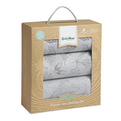 La Little Green oveja Wild algodón orgánico juego de ropa de cama (oso)