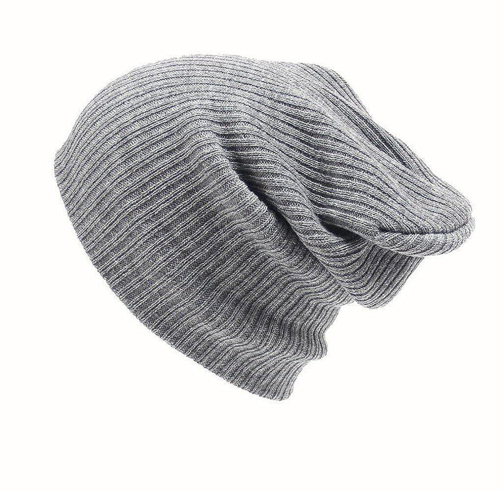 Tongshi Hombres Mujeres Beanie casquillo del Knit del esqu/í Hip-Hop de invierno de lana unisex sombrero caliente
