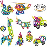 Magnetic Blocks Building Set of 87 Pieces Building Blocks Educational Toys for Children Over 3 Years Old