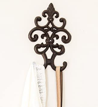 Cast Iron Vintage Double Wall Hook | Decorative Wall Mounted Coat Hanger |  7.75u0026quot;x4