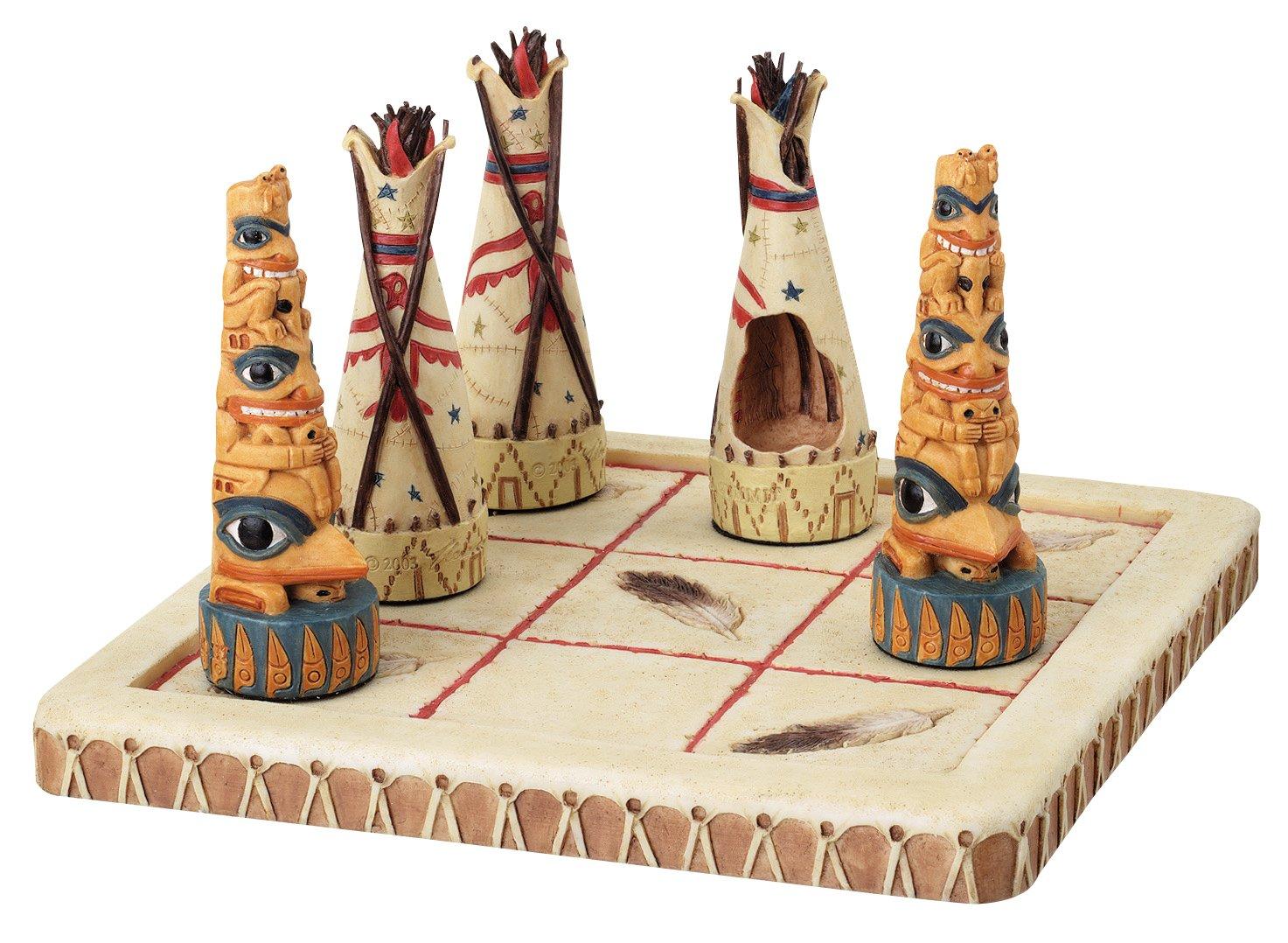 YTC Summit Tic Tac Toe nativo tribus figura decorativa
